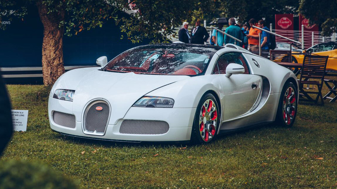 Bugatti Veyron front Goodwood Festival of Speed