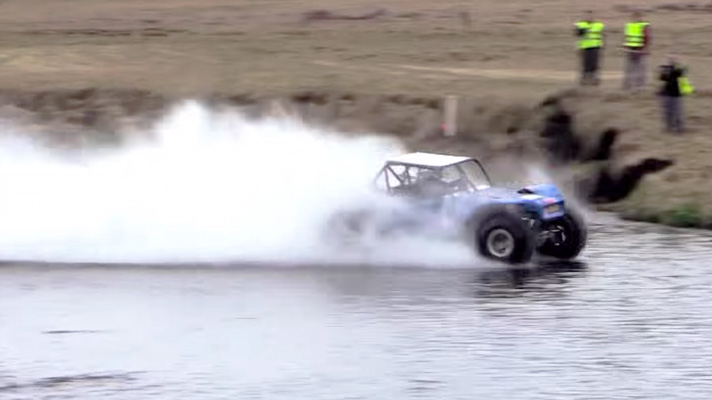 Watch the new hydroplaning record