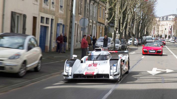 Audi R18 e-tron takes to the streets
