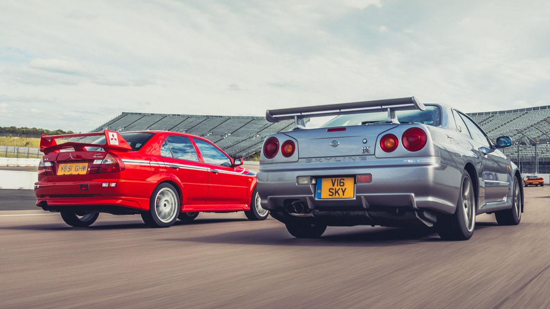 Skyline vs Evo Gran Turismo track day