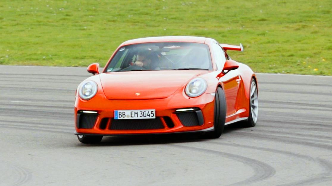 Chris Harris drives the Porsche 911 GT3